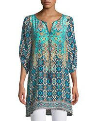 Tolani - Josephine Southwestern Silk Easy Tunic/dress - Lyst