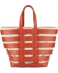 Paco Rabanne - Cage East-west Sleek Leather & Canvas Tote Bag - Lyst