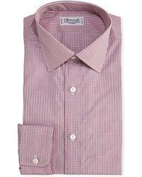 Charvet - Mini-check Cotton Dress Shirt - Lyst