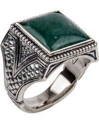 Konstantino - Men's Sterling Silver & Aventurine Signet Ring - Lyst