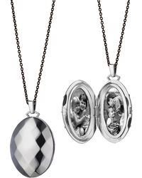 Monica Rich Kosann - Passion Faceted Sterling Silver Locket Necklace - Lyst