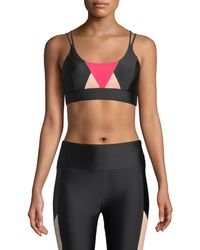 Lanston - Emerson Geometric Strappy Sports Bra - Lyst