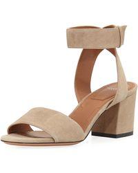 Givenchy - Paris Suede Ankle-wrap Sandal - Lyst