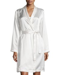 La Perla - Silk Long-sleeve Short Robe - Lyst