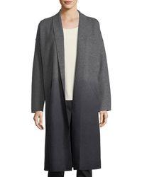 Eileen Fisher - Ombre Boiled Wool Kimono Coat - Lyst