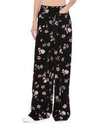 Valentino - Floral-print Silk Pajama Pants - Lyst