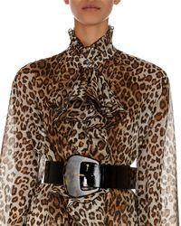Redemption - Wide Calfskin Leather Belt With Tortoise Buckle - Lyst
