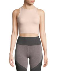 Alo Yoga - Movement High-neck Lace-up Back Performance Sports Bra - Lyst