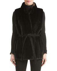 Gorski - Mink Fur Vest With Suede Belt - Lyst
