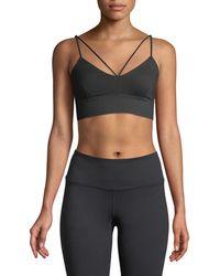 Alo Yoga - Glisten V-neck Strappy Sports Bra - Lyst