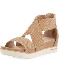 Eileen Fisher - Sport Woven Platform Sandal - Lyst