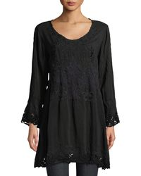 Johnny Was - Robin Long Embroidered Georgette Tunic - Lyst