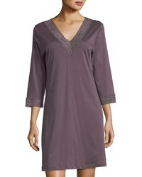 Hanro - Moments Lace-trim Sleepshirt - Lyst
