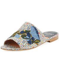Laurence Dacade | Nice Embroidered Flat Slide Sandal | Lyst