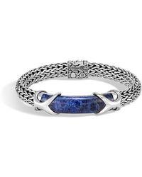 John Hardy - Men's Classic Chain Silver Sodalite Bracelet - Lyst