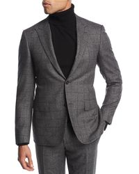 Canali - Windowpane Wool Two-piece Suit - Lyst