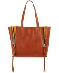 Chloé - Milo Medium Leather & Suede Tote Bag - Lyst