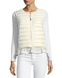 Moncler - Maglia Down/feather Filled Vest - Lyst