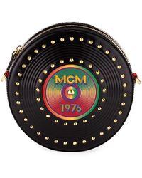 MCM - Berlin Casete Tambourine Crossbody Bag Small Black - Lyst