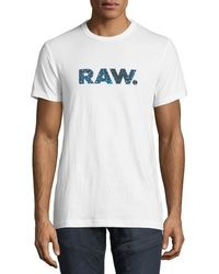 G-Star RAW - Mai Graphic Cotton T-shirt - Lyst