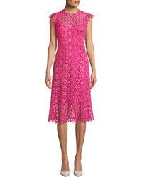Elie Tahari - Florance Geometric-lace Dress - Lyst