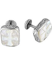 Konstantino - Color Classics Sterling Silver & Mother-of-pearl Cross Cuff Links - Lyst