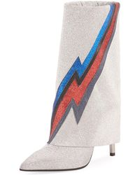 Balmain - Glittered Lightning Boots - Lyst