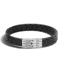 John Hardy Classic Chain Men's Leather Bracelet
