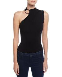 Elie Tahari | Izra One-shoulder Bodysuit Sweater | Lyst