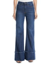 AO.LA by alice + olivia - Gorgeous High-rise Wide-leg Jeans With Exaggerated Hem - Lyst