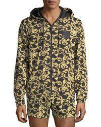 Versace - Barocco Net Zip-front Jacket - Lyst