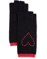 Portolano   Fingerless Gloves W/ Heart Embroidery   Lyst