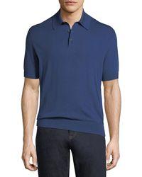 Ermenegildo Zegna - Cotton Polo Shirt - Lyst