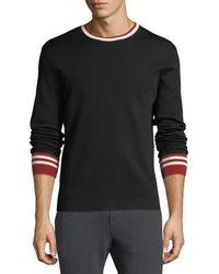 Ralph Lauren - Contrast-trim Wool Sweater - Lyst