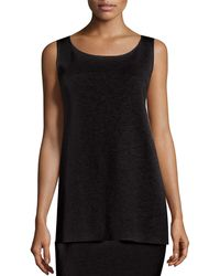 Eileen Fisher - Washable Crepe Long Tank - Lyst