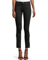 Elie Tahari - Azella Embellished Skinny Jeans - Lyst