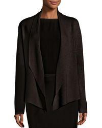 Eileen Fisher - Shawl-collar Draped Knit Jacket - Lyst
