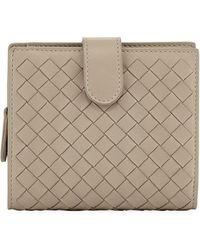 Bottega Veneta - Small French Woven Bi-fold Wallet - Lyst