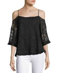 Bailey 44 - Tusk Lace Cold-shoulder Top - Lyst