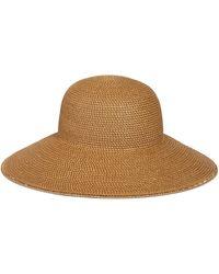 e678c3b3fa82e Eric Javits Zanzibar Packable Squishee Sun Fedora Hat in Brown - Lyst