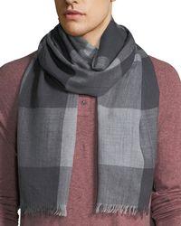 Eton of Sweden - Men's Two-tone Plaid Wool Scarf - Lyst