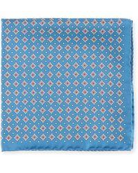 Eton of Sweden | Neat Silk Pocket Square | Lyst