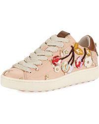 COACH - C101 Cherries Patches Platform Sneaker - Lyst