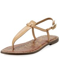 2e2c3eb91 Sam Edelman - Gigi Patent Leather Flat Thong Sandal - Lyst