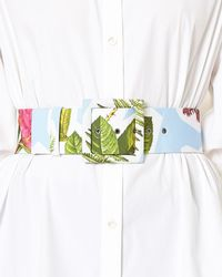 Carolina Herrera - Floral Collage-print Wide Belt - Lyst