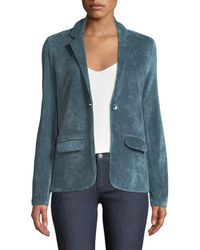 Neiman Marcus - Single-breasted Velour Blazer Jacket - Lyst