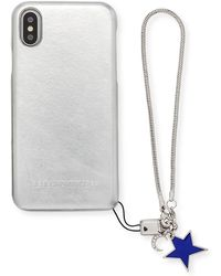 Rebecca Minkoff - Metallic Phone Case With Charm For Iphone X - Lyst