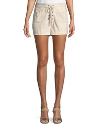 Cupcakes And Cashmere - Esley Lace-up Shorts - Lyst