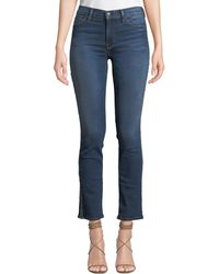 Hudson Jeans - Nico Mid-rise Cigarette Jeans With Metallic Stripes - Lyst