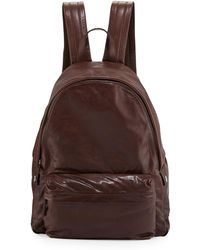 Brunello Cucinelli - Buffalo Leather Backpack - Lyst